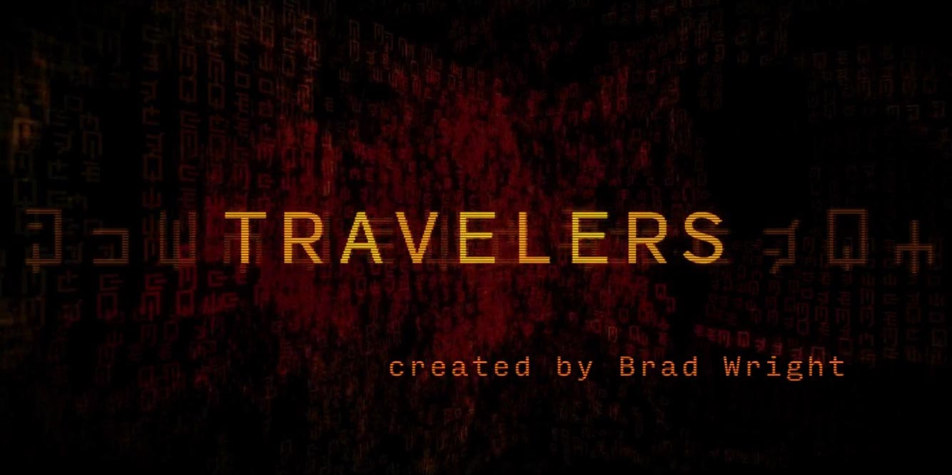 Title card from Netflix's Travelers